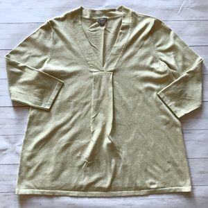 J. Jill V-Neck Stretch Sweater Size Medium